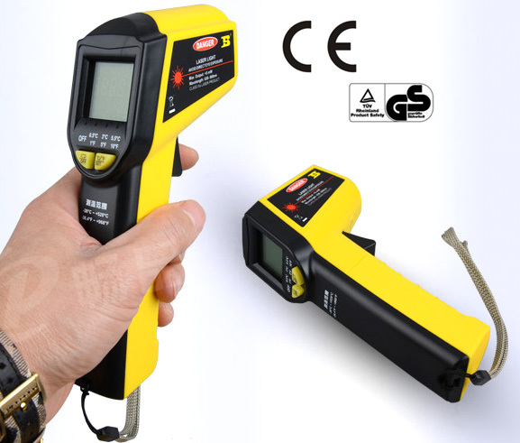 free shipping Digital Infrared Temperature Temp Gun Thermometer Non-Contact IR Laser Point holdpeak hp 1320 digital laser infrared ir thermometer gun meter non contact 50 1500c temperature tester pyrometer