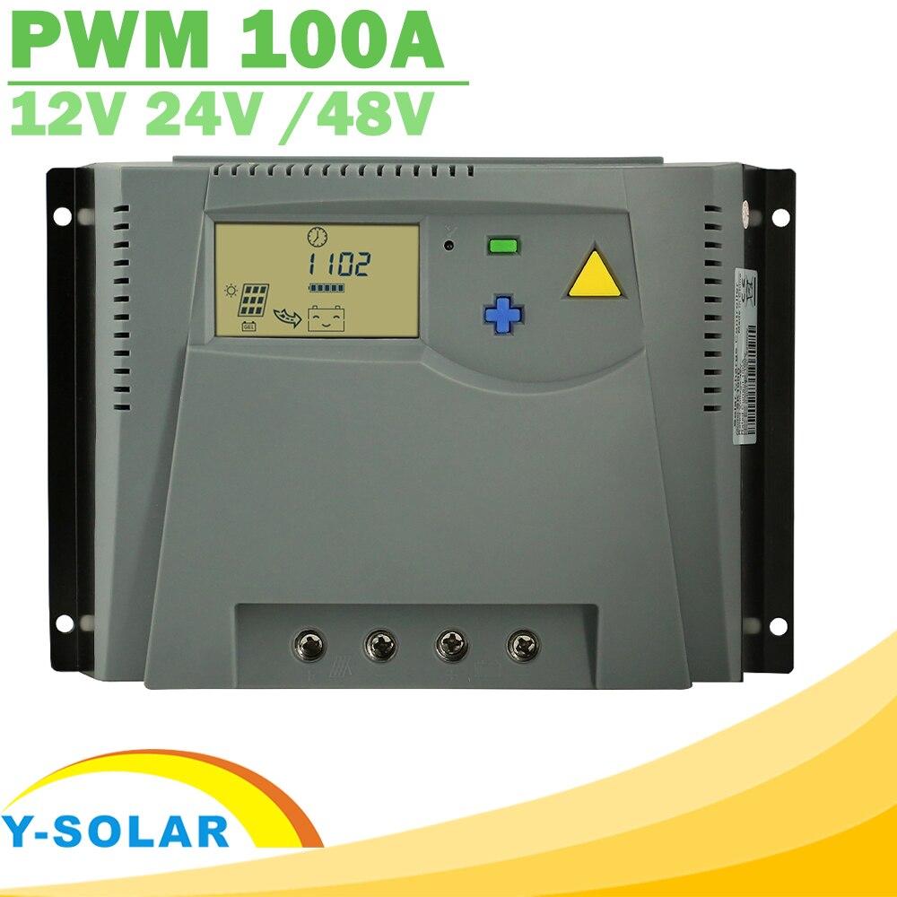 Здесь можно купить  PWM 100A Solar Charger Controller 12V 24V Auto 48V LCD Display for Solar Panel Charge Regulator with Over Charge Protection New  Электротехническое оборудование и материалы