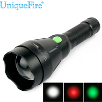 UniqueFire Portable LED Flashlight 1603 50 XRE Torch Zoomable Lanterna Torch Lighting 4 Mode Light Use 18650 Battery For Hunting