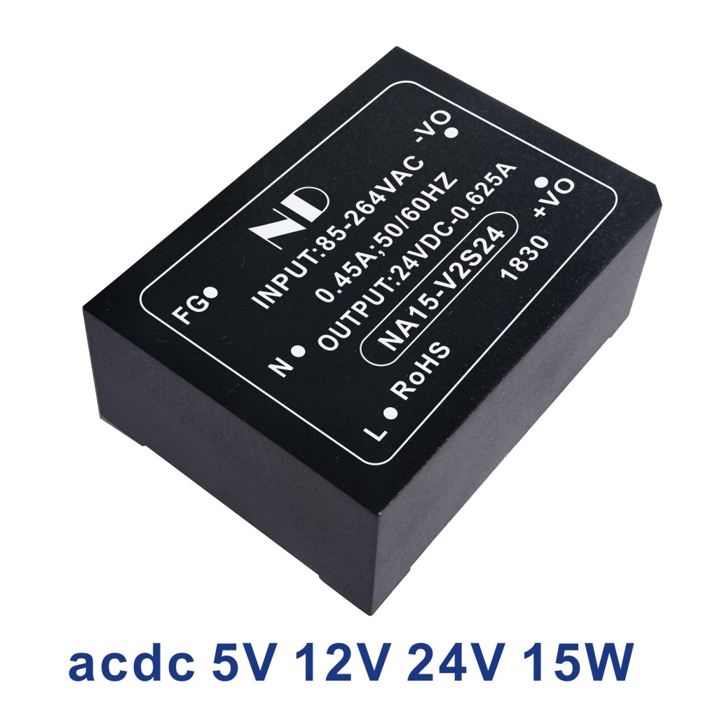 1pcs new <font><b>ac</b></font> <font><b>dc</b></font> power supply 220V 5V <font><b>3A</b></font> 9V 12V 15V 24V <font><b>48V</b></font> 15w isolated acdc converter low ripple quality goods image