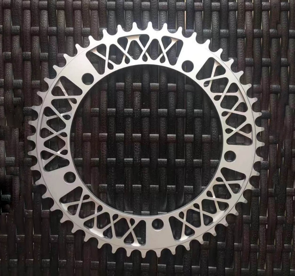 цена на Fixed Gear Bike Crankset Disc Single Speed Fixie Bike Crank Plate BCD 144 MM 52T Bike Crankset Plate Bicycle Accessories