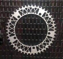 цены на Fixed Gear Bike Crankset  Disc Single Speed Fixie Bike Crank Plate BCD 144 MM 52T Bike Crankset Plate Bicycle Accessories  в интернет-магазинах