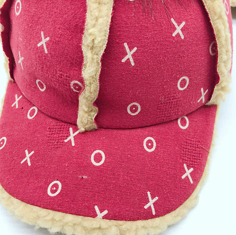 เด็กทารกเด็กชายหมวกฤดูหนาวหมวกเด็กเด็กทารกพิมพ์ Hairball น่ารัก Bongrace ฤดูหนาว Warm หมวก Peak Cap 2019