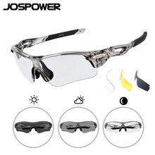 JOSPOWER новые фотохромные спортивные очки для мужчин и женщин ветрозащитные Беговые солнцезащитные очки для езды на велосипеде Поляризованные очки Gafas 3 объектива