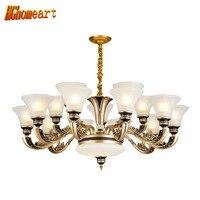 HGhomeart Chandelier European Mid Range Zinc Alloy Chandelier Bedroom Lamp Living Room Chandelier Modern Dining Room