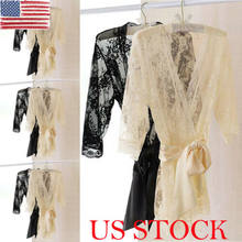 Summer Women Lingerie Sheer Lace Robe Gown Sexy Ladies G-string Sleepwear Nightwear(China)