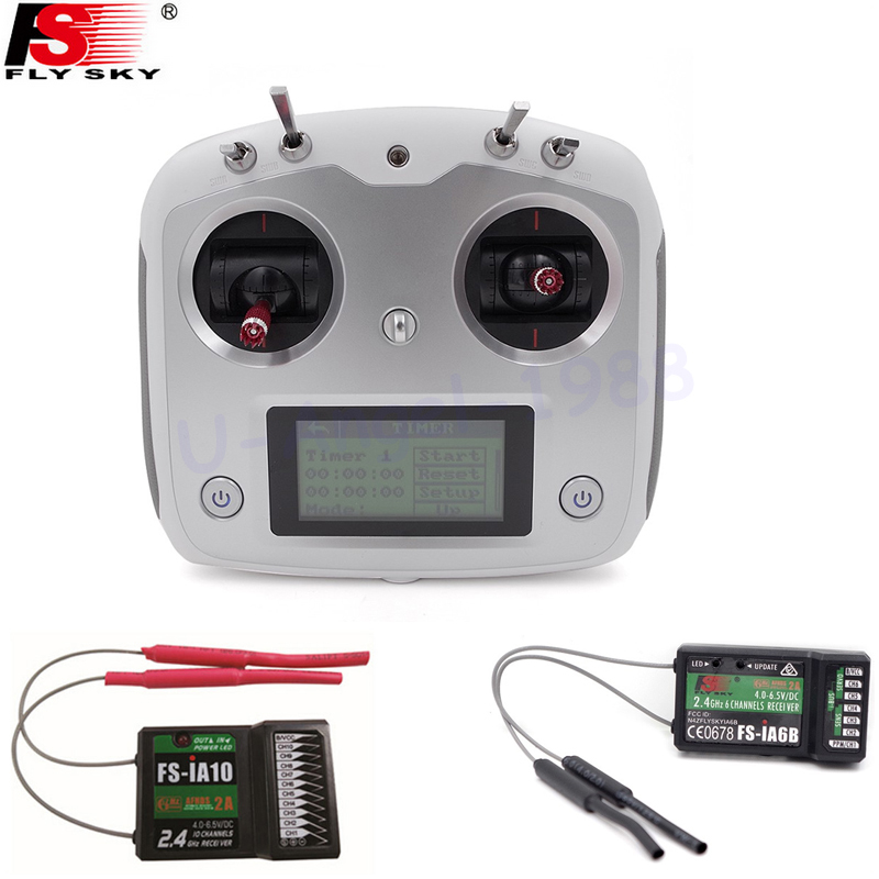 Flysky FS-I6S 10ch 2.4G AFHDS 2A RC Transmitter Control w/ FS-iA6B FS-iA10 Receiver For RC Helicopter VS FS-i6 1 set fs i6x 10ch 2 4ghz afhds 2a rc transmitter with fs ia6b fs ia10b fs x6b fs a8s receiver for remote control plane model