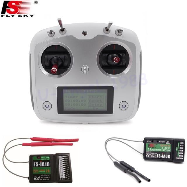 Flysky FS-I6S 10ch 2.4G AFHDS 2A RC Transmitter Control w/ FS-iA6B FS-iA10B Receiver For RC Helicopter VS FS-i6
