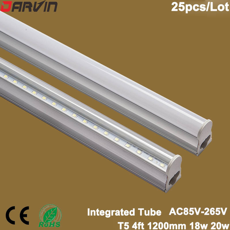 <font><b>Led</b></font> Tube <font><b>T5</b></font> Integrated <font><b>Led</b></font> Tube Light <font><b>18W</b></font> 20W <font><b>Led</b></font> Fluorescent Tube 4ft 1200mm SMD Light Lamp 220V cold white 6500K White 4500K image