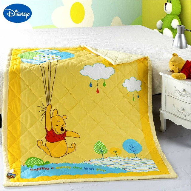 US $64.99 |NEW Yellow Winnie the Pooh Quilts Bettdecken Disney Bettwäsche  Baumwolle Wowen 120*150 CM Baby Mädchen Kinderbett kinderbett Schlafzimmer  ...