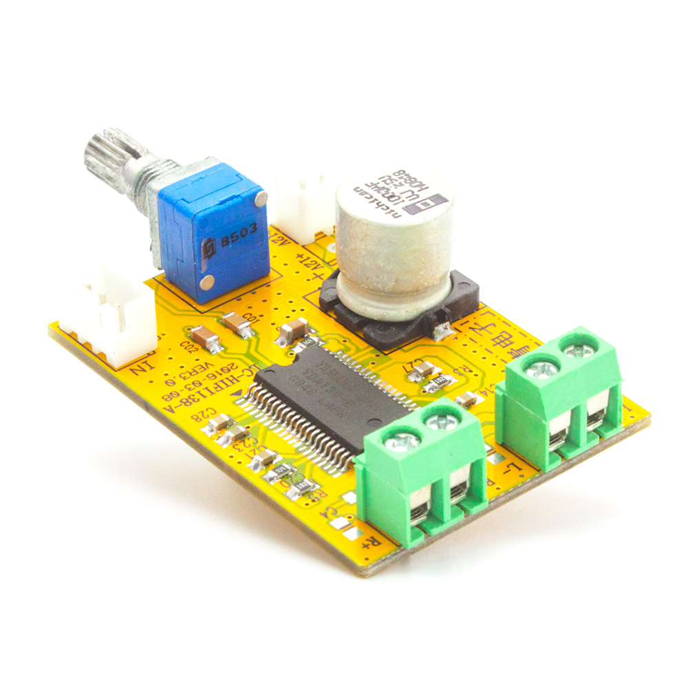 AMP Board - TDA138-E Stereo Class D Digital Amplifier Board 2*20W 9-14V DIY For CAR Home Desktop