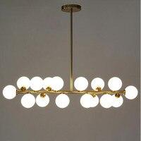 Loft Nordic magiczna fasola Led żyrandol kreatywny mlecznego szkła jadalnia sypialnia lampy sufitowe oprawy oświetleniowe z LED żarówki darmowa wysyłka w Wiszące lampki od Lampy i oświetlenie na