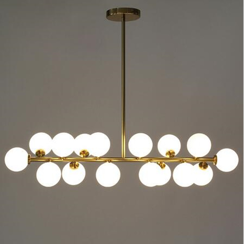Modern Magic Beans Modo Chandelier Milky Glass Dining Room Cafe / Bar Lights E27 fixtures With LED Bulbs Free Shipping