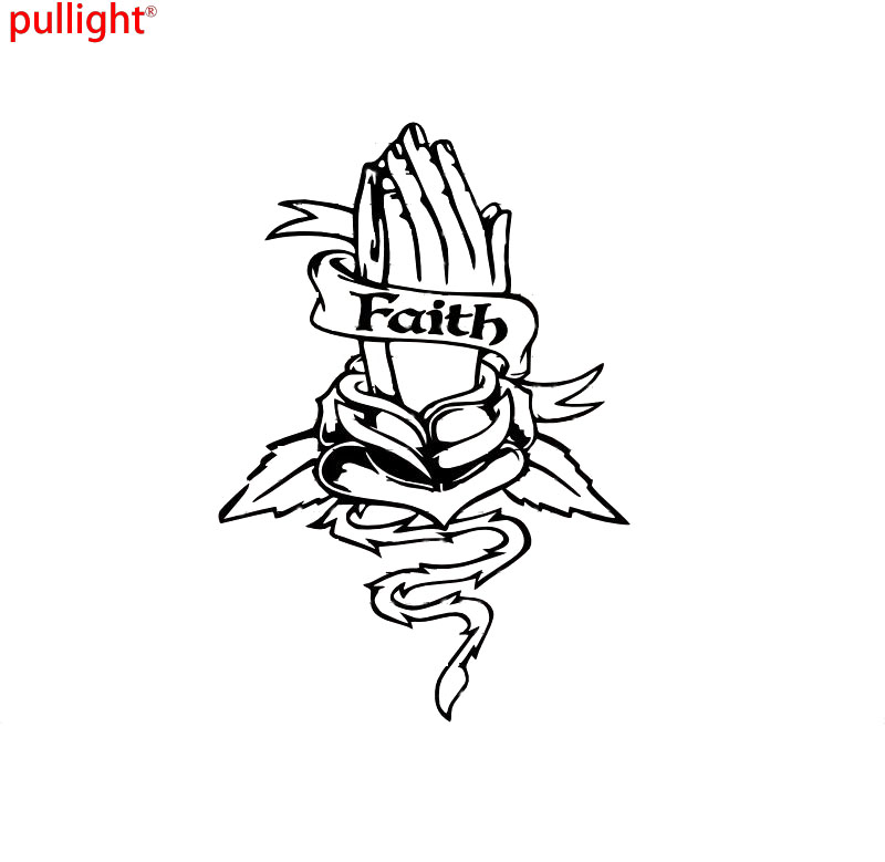 Faith Praying Hands Christian Car Decal Truck Window Vinyl Sticker in Car Stickers from Automobiles Motorcycles