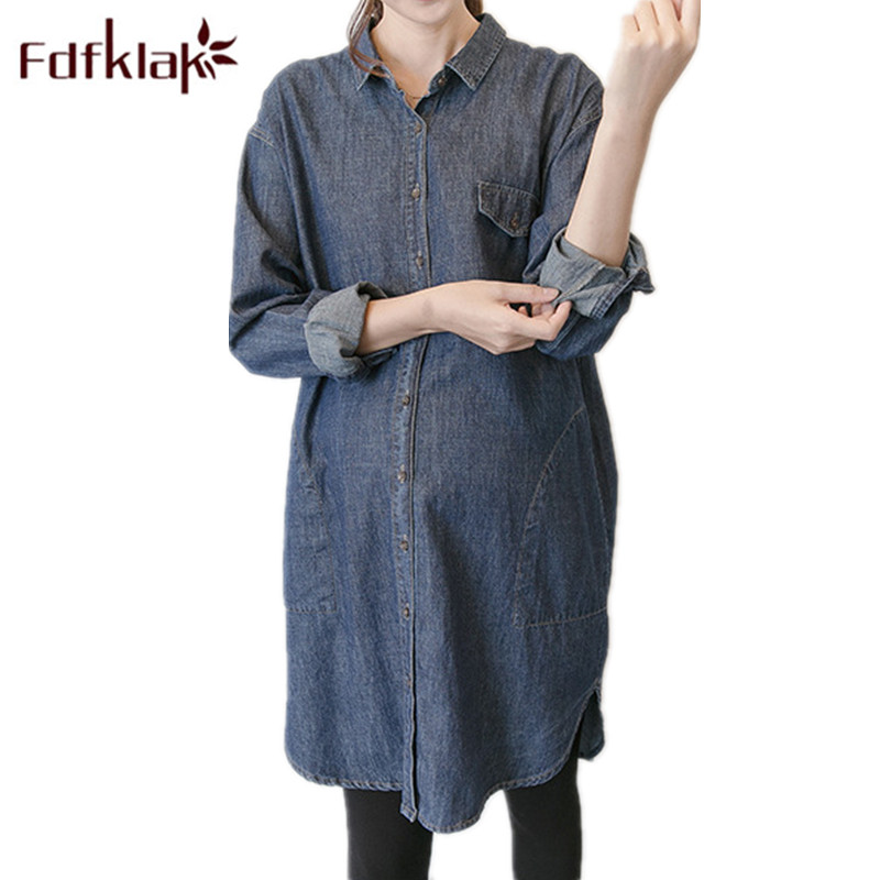 Pregnant Women Strapless Dress Embroidery Shirts Short Sleeves Turn-down Collar Long Loose Pregnant Women Blouses Nice Blouses &shirts Mother & Kids