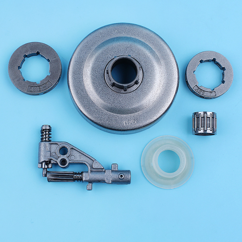 Tools : 3 8inch Clutch Drum Oil Pump Needle Bearing Kit For Jonsered CS2156 CS2159 2156 2159 Chainsaw Rim Sprocket 7 Tooth Replacement Part