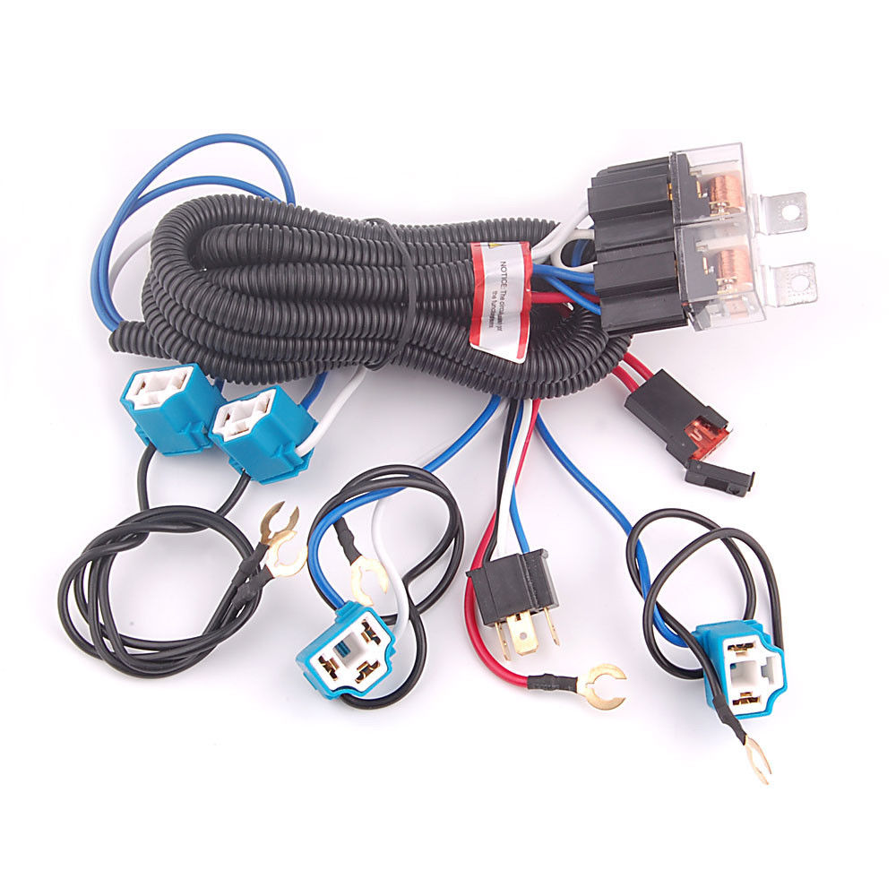 Headlamp Wire Harness Wiring Library 12v Plug Adapter 4 Headlamps Light Bulb Fix Dim Ceramic H4 Headlight Relay For Lesabre Deville