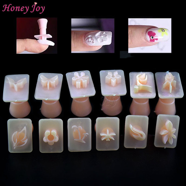 12pcs Easy Nail Art Stamper For Acrylic Nail Design Nail Stamp