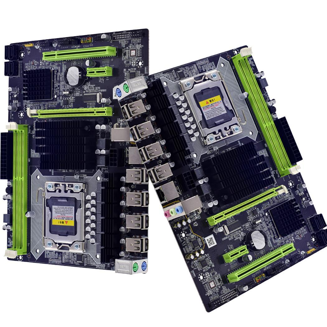 <font><b>X58</b></font> LGA 1366 <font><b>motherboard</b></font> Discrete Graphic channel REG S-ATA II PCI Express 16X ECC Backplane <font><b>Dual</b></font> DDR3 Channel image