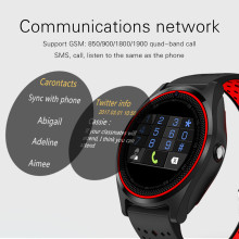 Bluetooth Smart Watch with Camera V9 Smartwatch SIM Card Wristwatch for Android Phone Wearable Devices pk dz09 A1 gt08