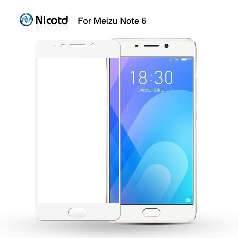 Nicotd Full Cover Tempered Glass For Meizu M6 Note M5 M5S M5C Screen Protector For MEIZU M3 Note M3S MX6 U20 U10 Protective Film