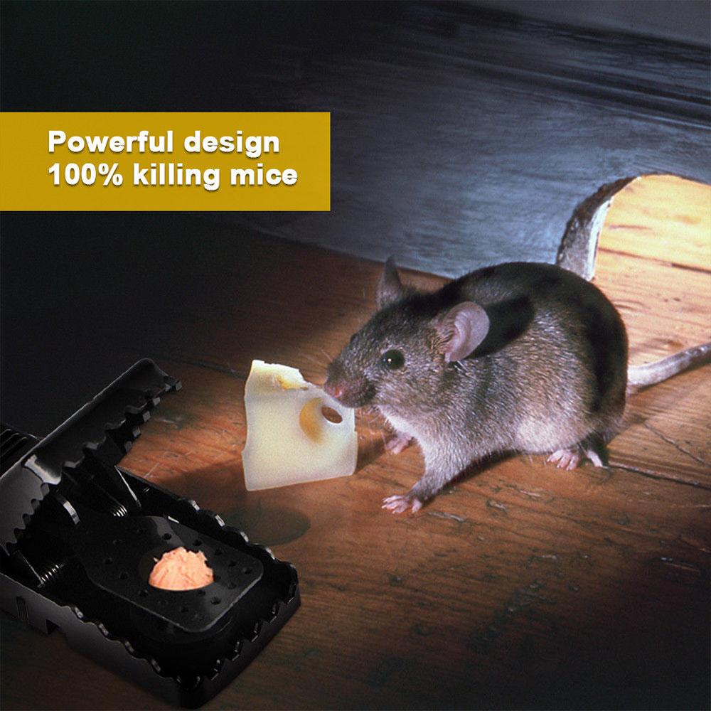 Mice Catcher Mousetrap Convenient 2pcsSet Black Tools Rodent Accessories Home