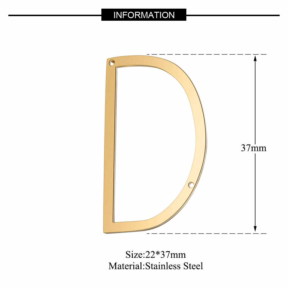 5pcs/lot 100% Stainless Steel Golden Filled Initial Name Connector Pendant for Necklace 2019 New Hot A-Z Name Jewelry Connectors