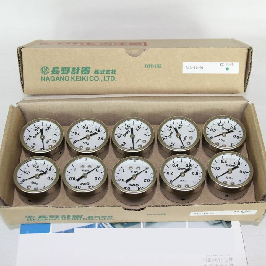 BRAND NEW JAPAN SMC GENUINE GAUGE G43-10-01 brand new japan smc genuine pressure switch pse561 01