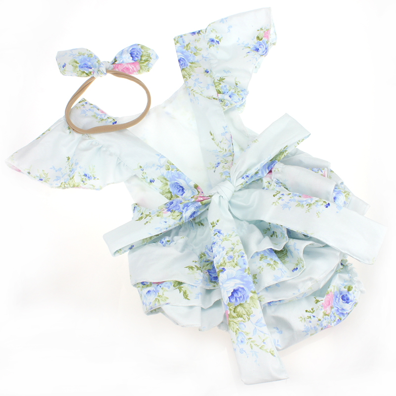 Lovely Romper Head Wrap Sets For Baby Girls Birthday -9242