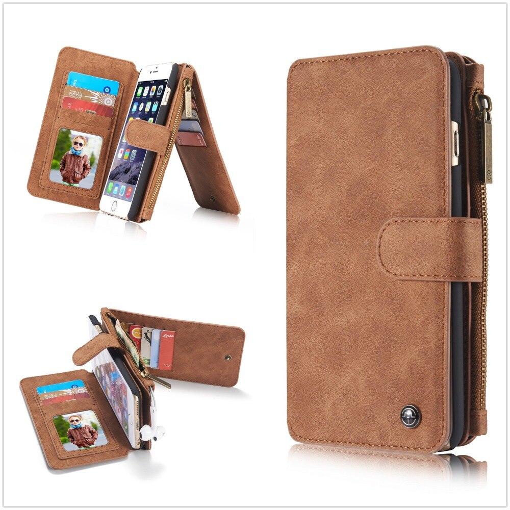 bilder für Original brand leder telefon-beutel-abdeckung case für apple iphone 6 6 s plus 7 plus 5 5 s se phone cases mit multifunktionale brieftasche