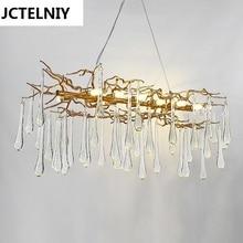 Гостиная подвесной светильник Французский Кристалл светодиодный ветви освещения лампы