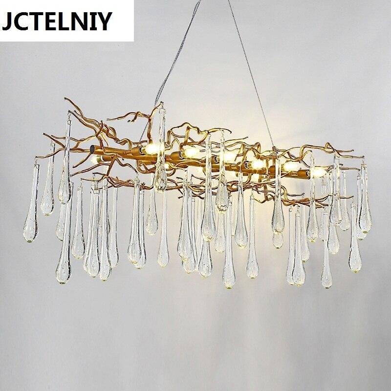 Salon pendentif lumière Français cristal led branches éclairage lampes