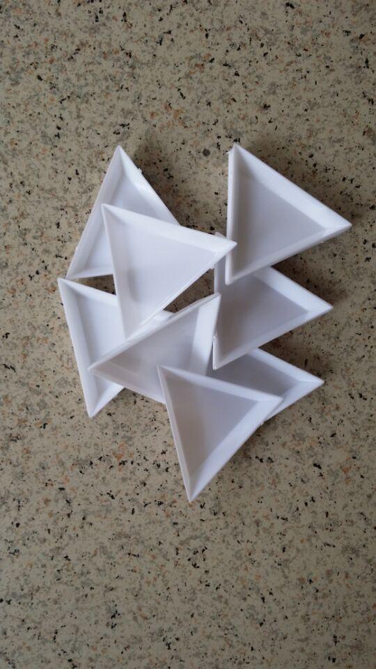 Незаменимый шить инструмент для ногтей наклейки алмаз paintng вставить DIY Инструменты треугольная коробка для хранения rhinestonetriangle пластины ...