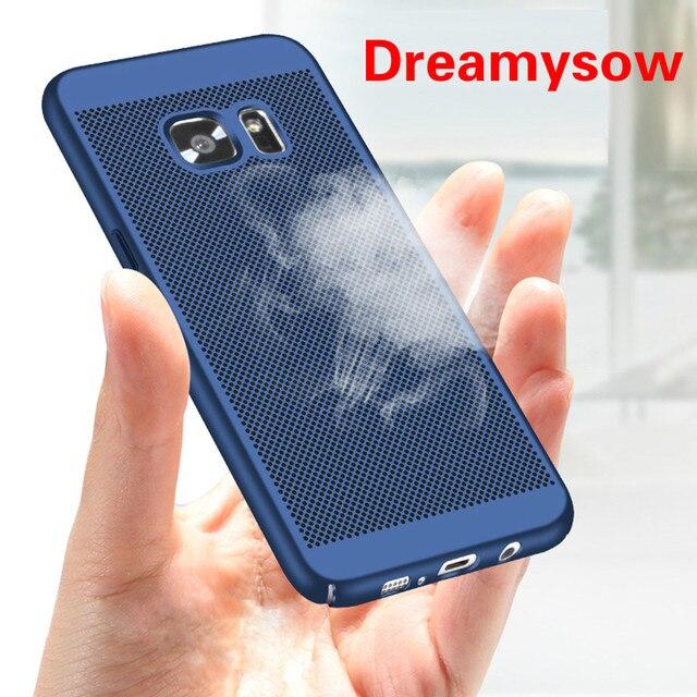 קירור טלפון עבור Samsung Galaxy A30 A50 A3 A5 A7 2016 2017 J7Prime S6 S7 קצה S8 בתוספת Note3 note5 Note8 מלא פלסטיק כיסוי