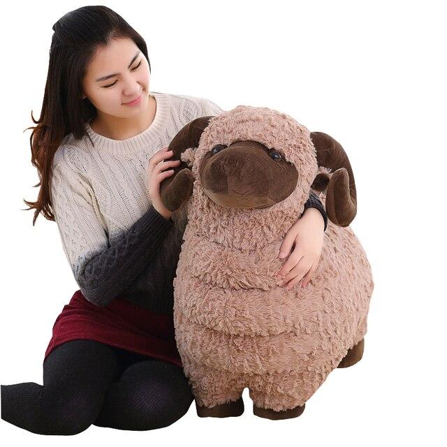 Dorimytrader Big Animal Sheep Stuffed Toy Soft Cute Goat Plush