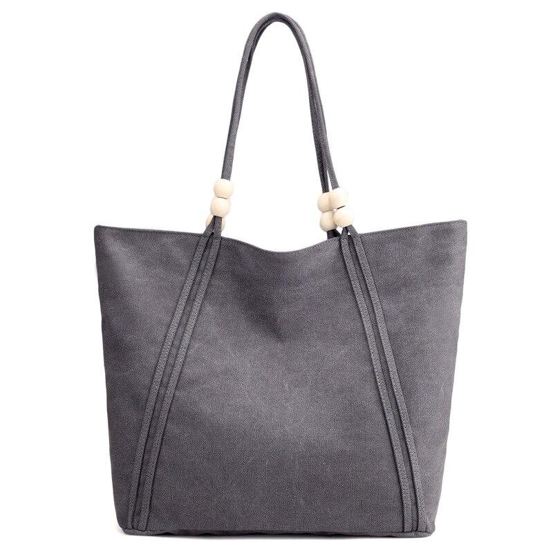 Women's Canvas Single Shoulder Bag Pure Color Joker Bag Women's Bag Leisure Extra Women's Bag