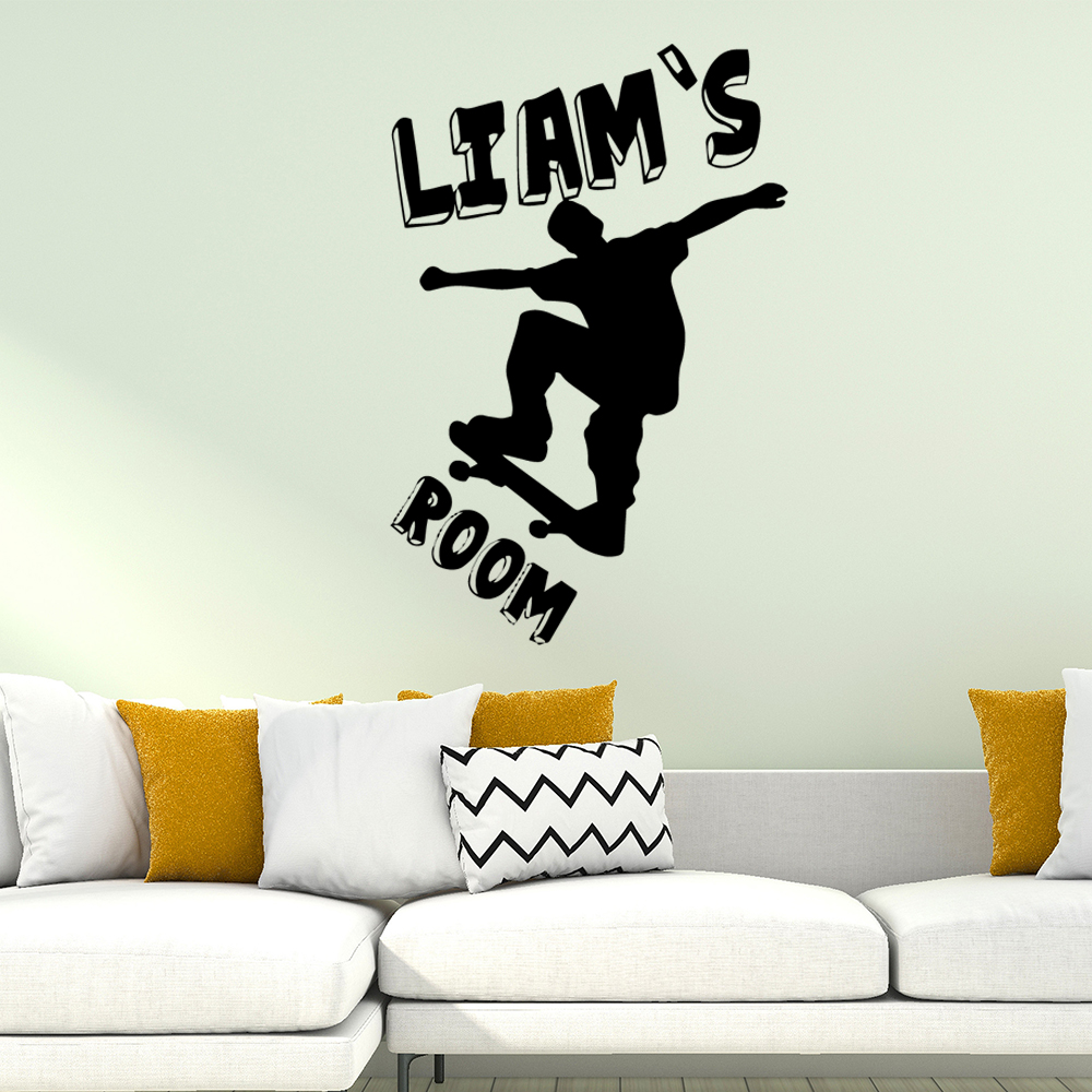 Beauty Skateboarding Wall Stickers Home Furnishing Decorative Sticker For Decor Removable Decals