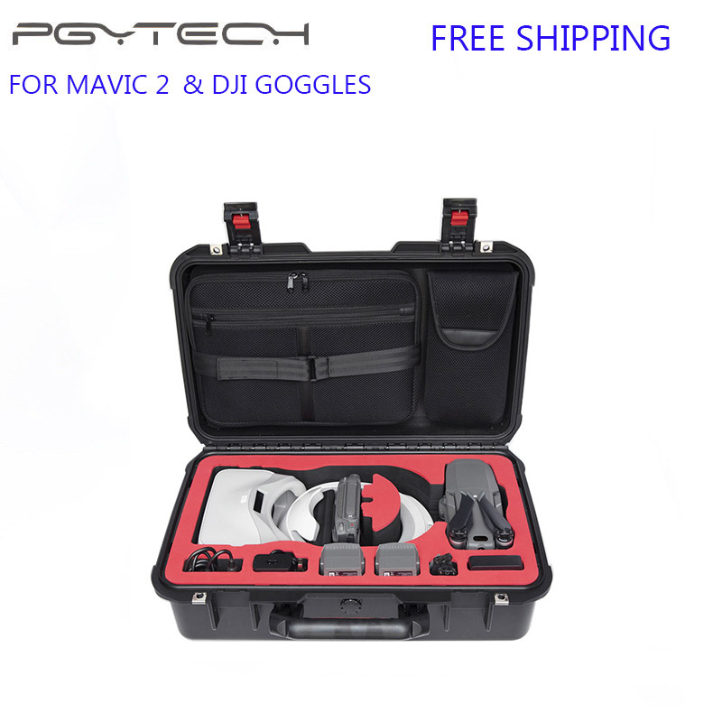 PGYTECH Waterproof Case DJI Mavic 2 Suitcase Waterproof Carry Bag for Mavic 2 Pro/Zoom & DJI Goggles Drone Accessories