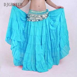 Image 5 - DJGRSTER Hohe qualität Frauen Bauch Tanzen Röcke Günstige Bauchtanz Kostüm Gypsy Röcke 13 Farben Erhältlich Ausbildung Kleid