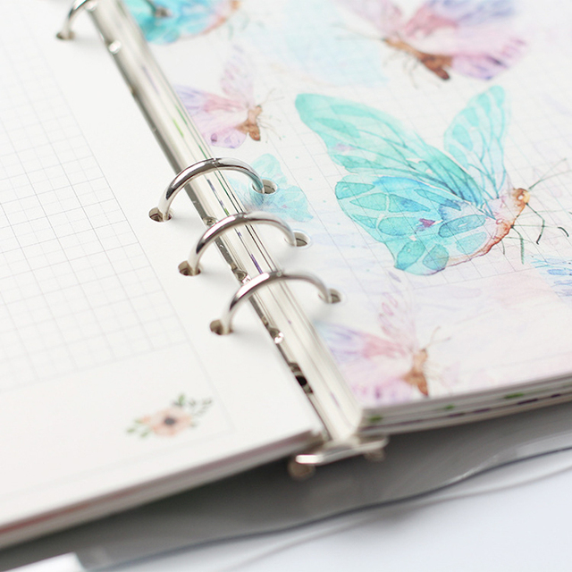 Creative A5 A6 A7 Colored Notebook Index Page Matte Cover Spiral Diary Planner Paper Note Book Category Pages Stationery 4