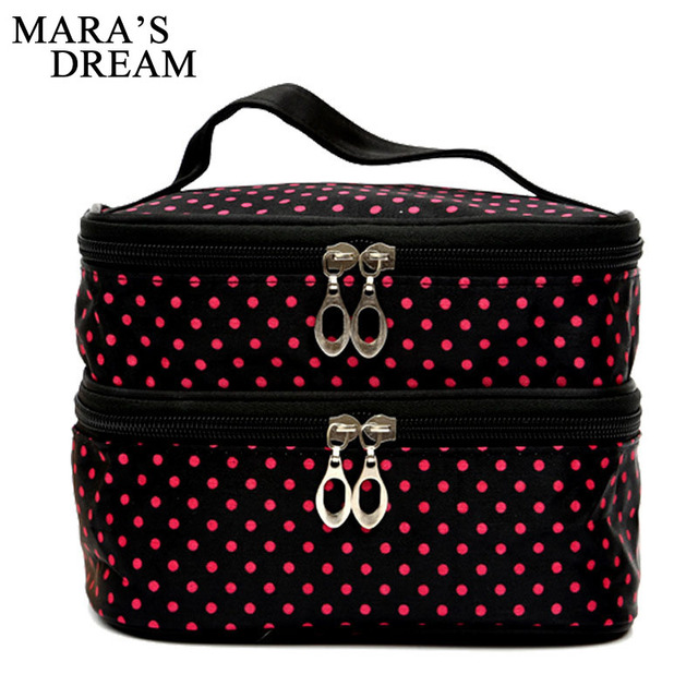 Women Travel Cosmetic Bag Functional Makeup Case Zipper Make Up Bags