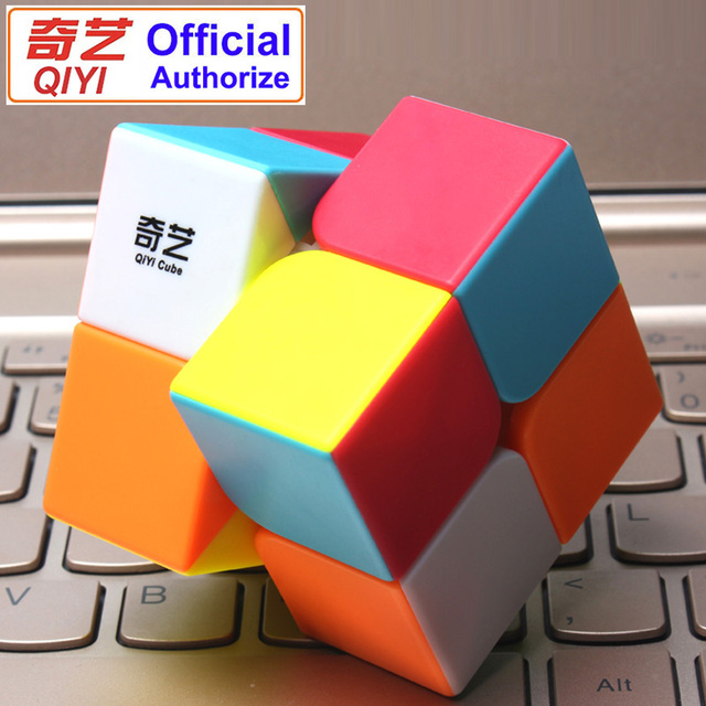 QIYI Warrant 2x2 Speed Magic Cube Stickerless 2x2x2 Cubo Magico Puzzle Educational Toys for Children Kids Gift Magic-Cube MF2SET 1