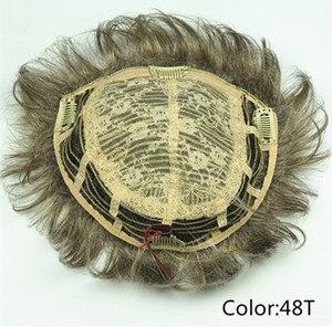 Image 4 - StrongBeauty tupé corto de pelo sintético para mujer, extensiones de cabello, opciones de color