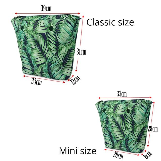 2019 nouveau classique Mini Composite tissu sergé tissu imperméable doublure intérieure insérer une poche à glissière pour Obag poche intérieure pour O sac