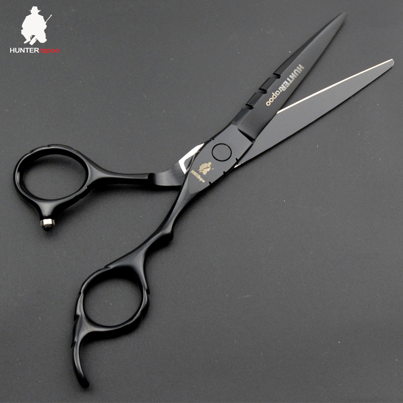 30% Off 6 Inch Professional Hair Cutting Scissors For Hairdressing Salons Black Paint Hairdresser Shears Barber Products Ht9153