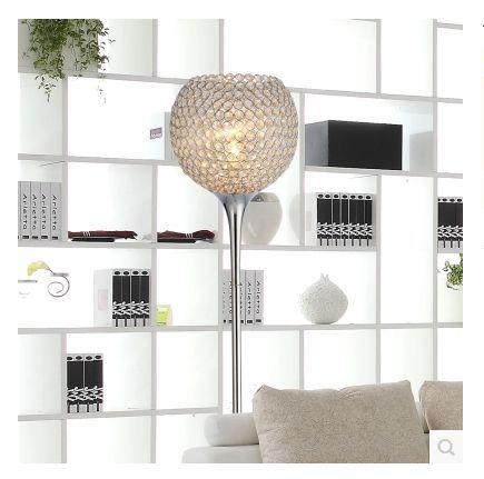 aliexpress : buy simple modern k9 crystal floor lamps silver