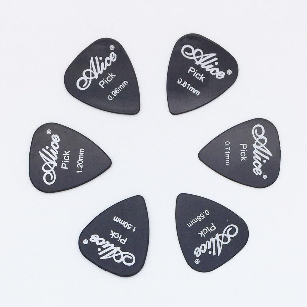 6 штук гитара Alice берет в 1 Цвет полный Толщина 0,58 0,71 0,81 0,96 1,2 1,5 мм черный/белый/желтый/красный/зеленый/синий/оранжевый