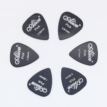 6 pieces Alice Guitar Picks in 1 Color Full Thickness 0.58 0.71 0.81 0.96 1.2 1.5 mm Black/White/Yellow/Red/Green/Blue/Orange(China)