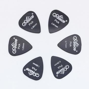 6 κομμάτια κιθάρα Alice σε 1 χρώμα πλήρους πάχους 0,58 0,71 0,81 0,96 1,2 1,5 mm μαύρο / άσπρο / κίτρινο / κόκκινο / πράσινο / μπλε / πορτοκαλί