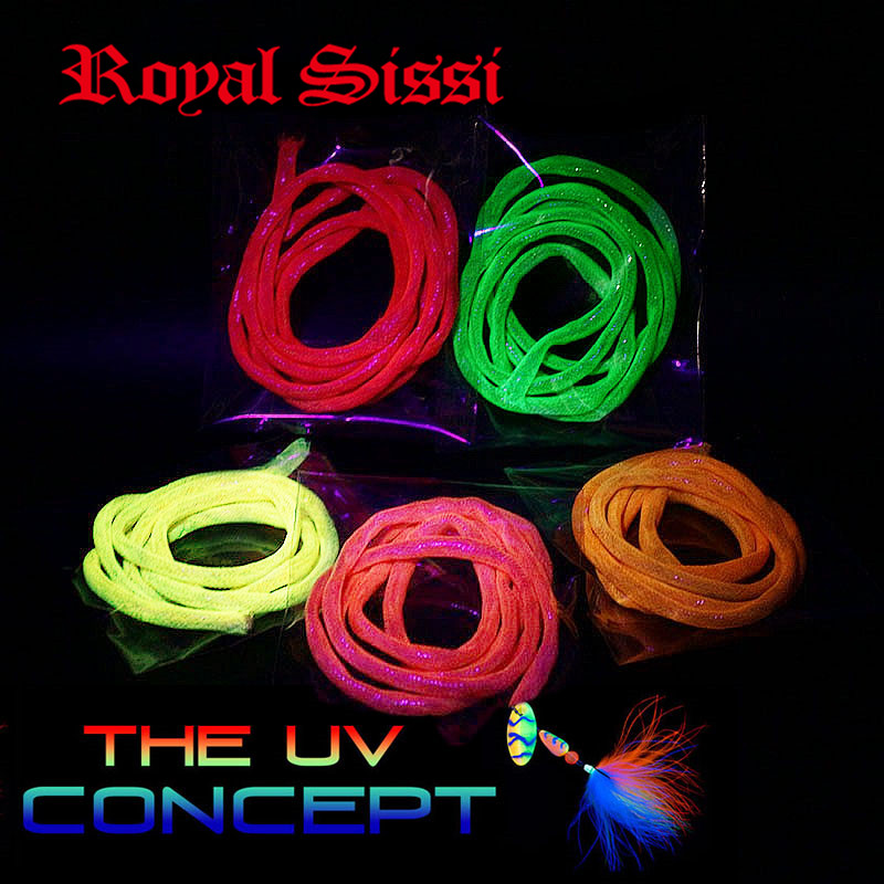 New 5 Packs/set 5colors assorted UV reflective Mylar tube 4mm braided pearlescent cord ultraviolet concept fly tying materials